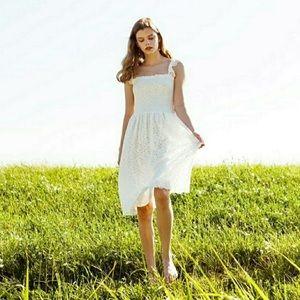 Anthropology white dress